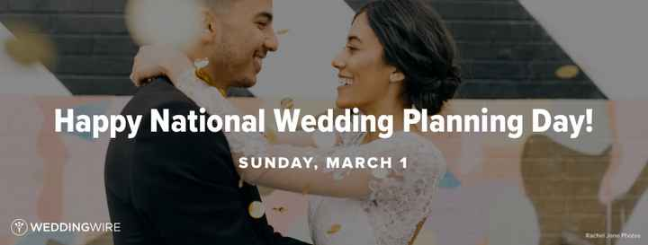 March 1 is National Wedding Planning Day! - 1