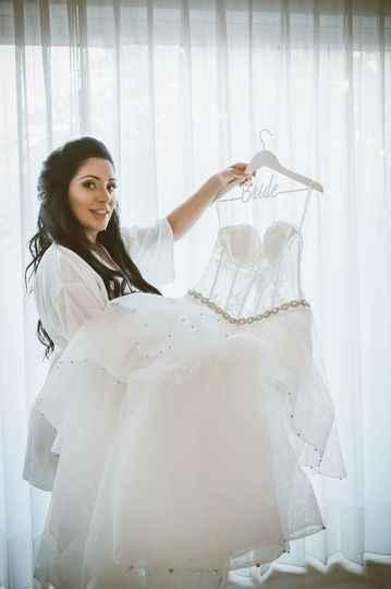 Hanging and Displaying My Wedding Dress - 1