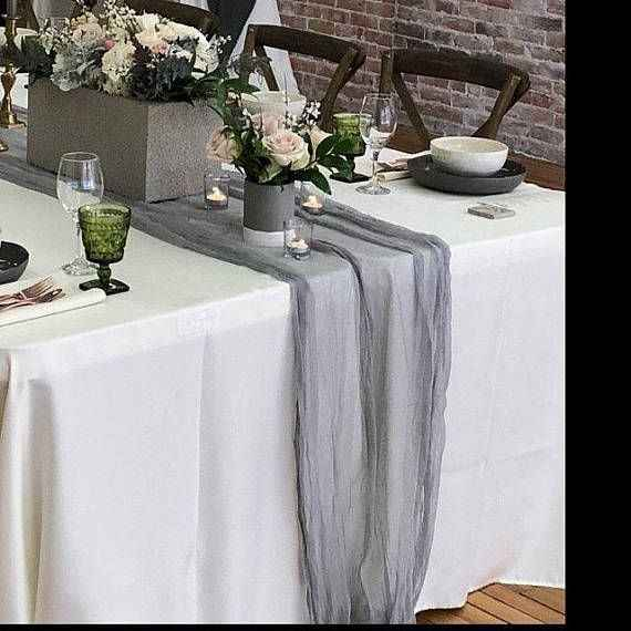 Cheesecloth on satin tablecloths?? - 2