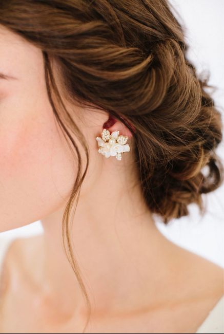 My bridal earring choice! 1