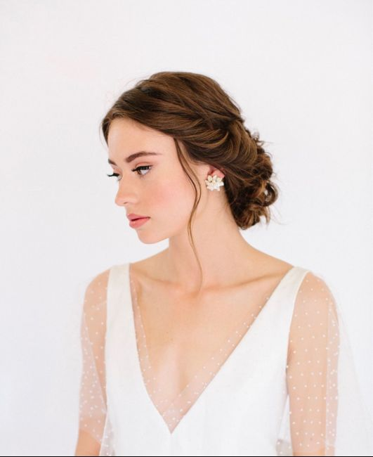 My bridal earring choice! 2