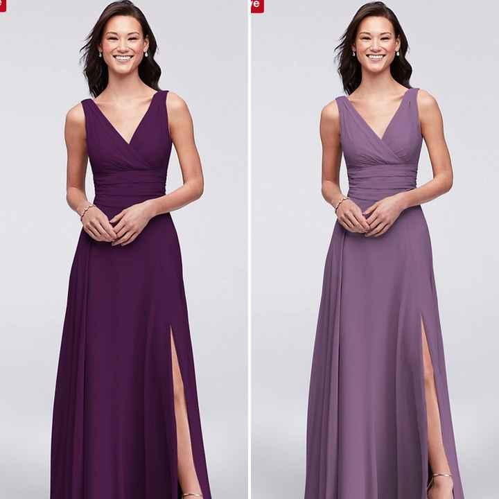 Alternating bridesmaid dress colours!? - 1
