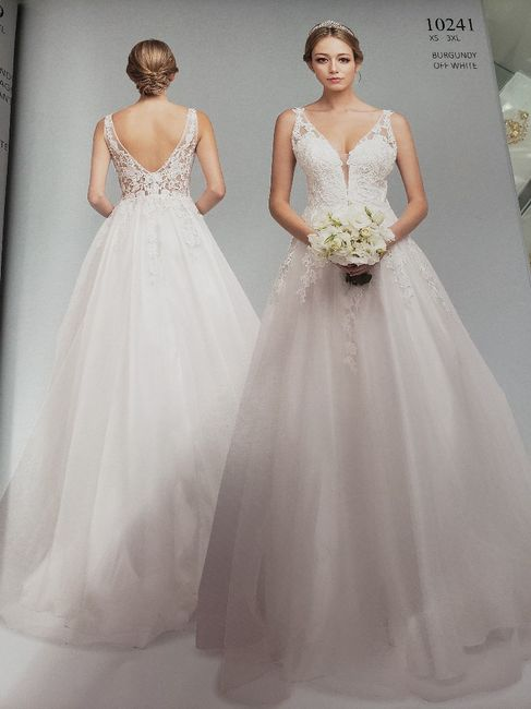 How many... dresses have you tried on? 1