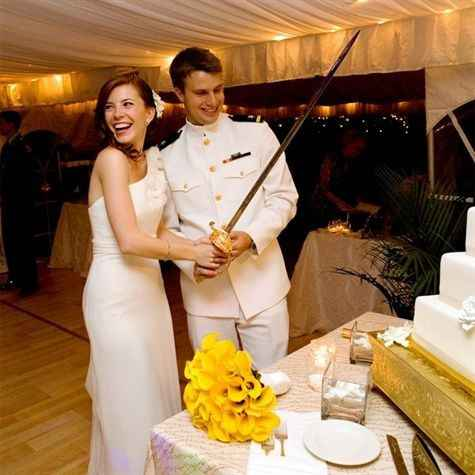 Sword cake cutting