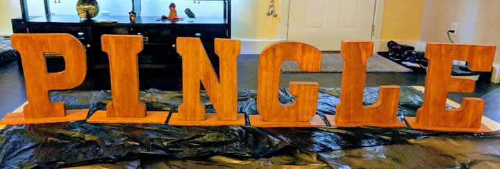 Standing up Wooden Letters - 1
