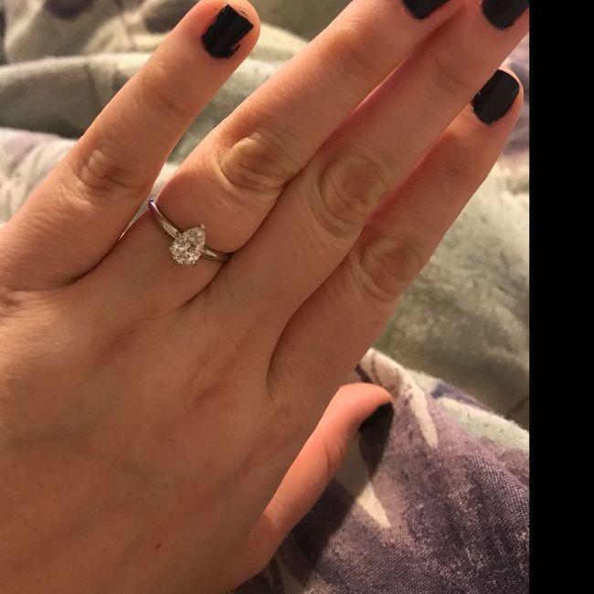 Pear/tear drop shaped rings 5