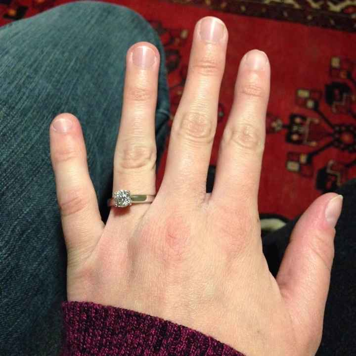 Still getting use to a ring on my finger!