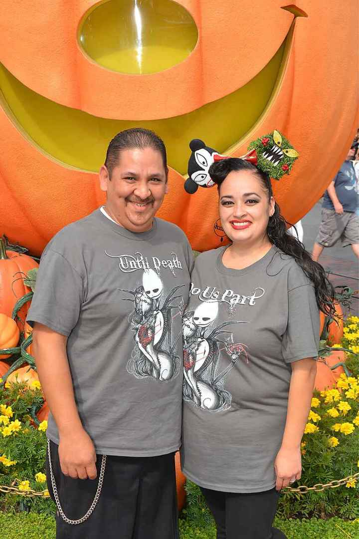 Our save the date photo shoot at Disneyland