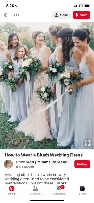 Blush/ivory gown- what color for bridesmaids? 3
