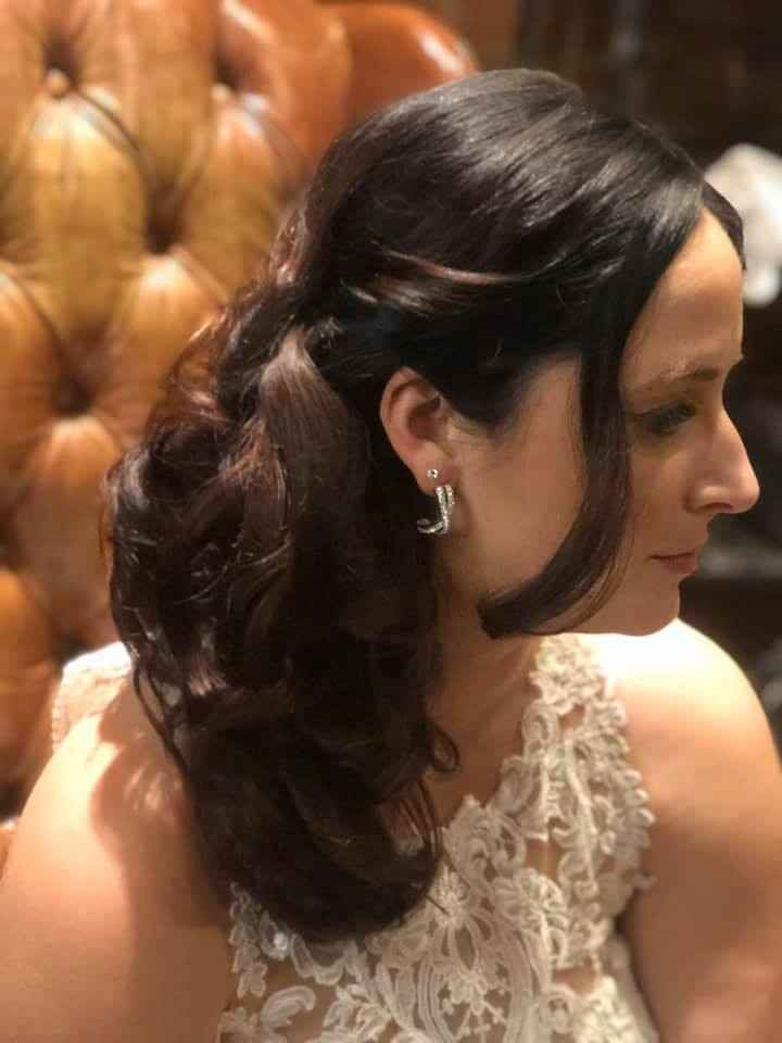 second hair style for the reception
