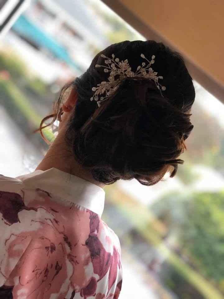 updo for ceremony and group photos.