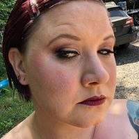 Diy makeup trial! What do you think? Glam/goth - 1