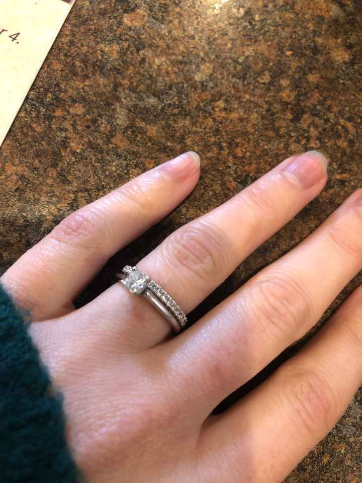 Just got my wedding band! Show yours off ladies! - 1