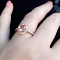 Morganite with Diamond Accents in Rose Gold