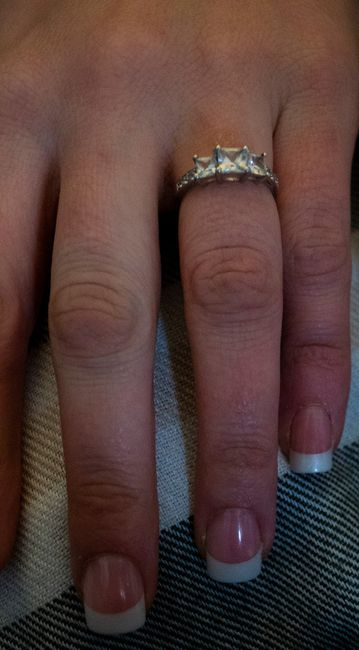 The perfect ring!!!! He knows what I LOVE!!!!