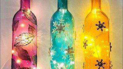 diy Decor Idea: wine bottles 6