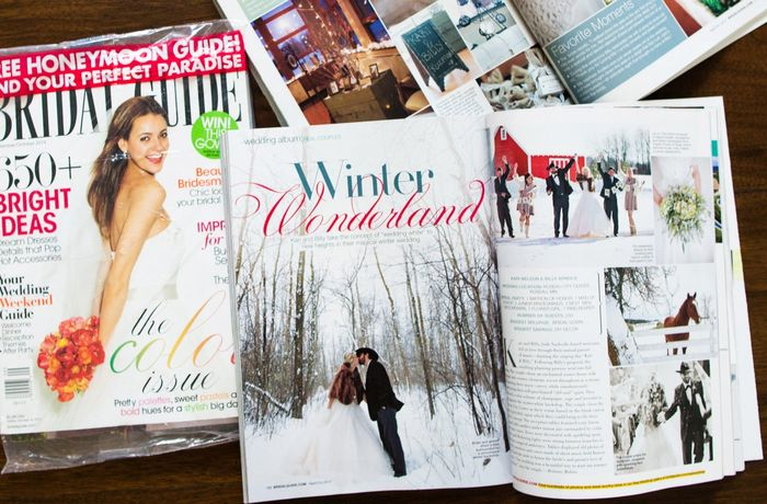 Where are all the print wedding magazines? 1