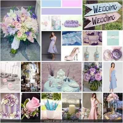Pink Purple and Blue wedding 1