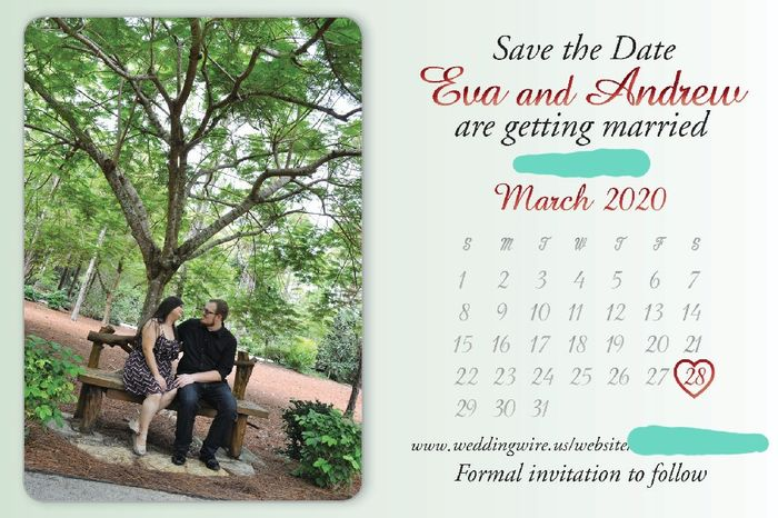Save the dates are in!! 2