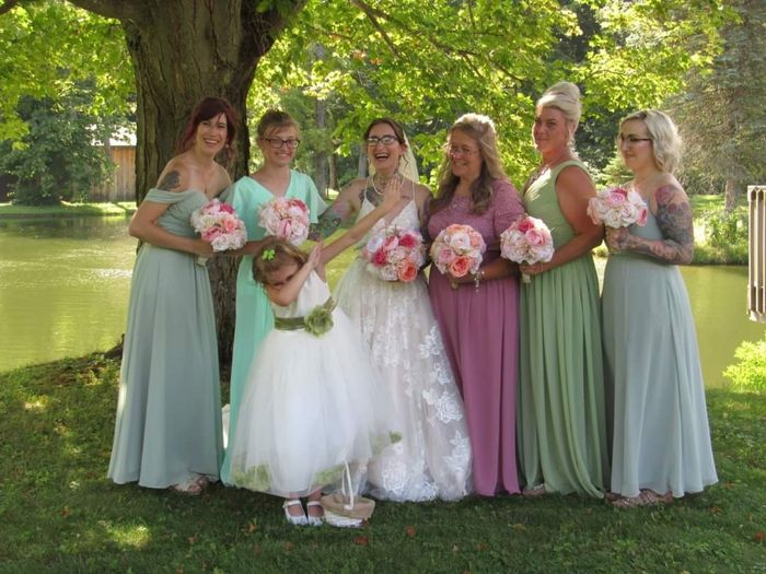 Mismatched bridesmaid dress examples? 1