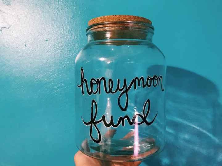 Honeymoon Fund Jar For The Reception Creative Suggestions Weddings Wedding Reception Wedding Forums Weddingwire
