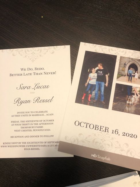 Fall Brides - Are you nervous to re-send your invites? 1
