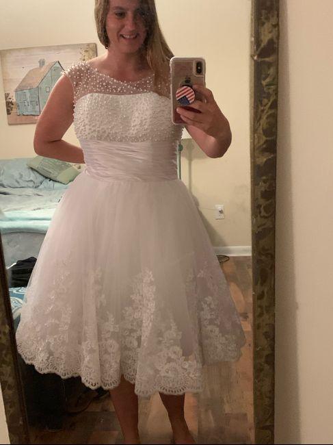 i got my reception dress!!!! - 1