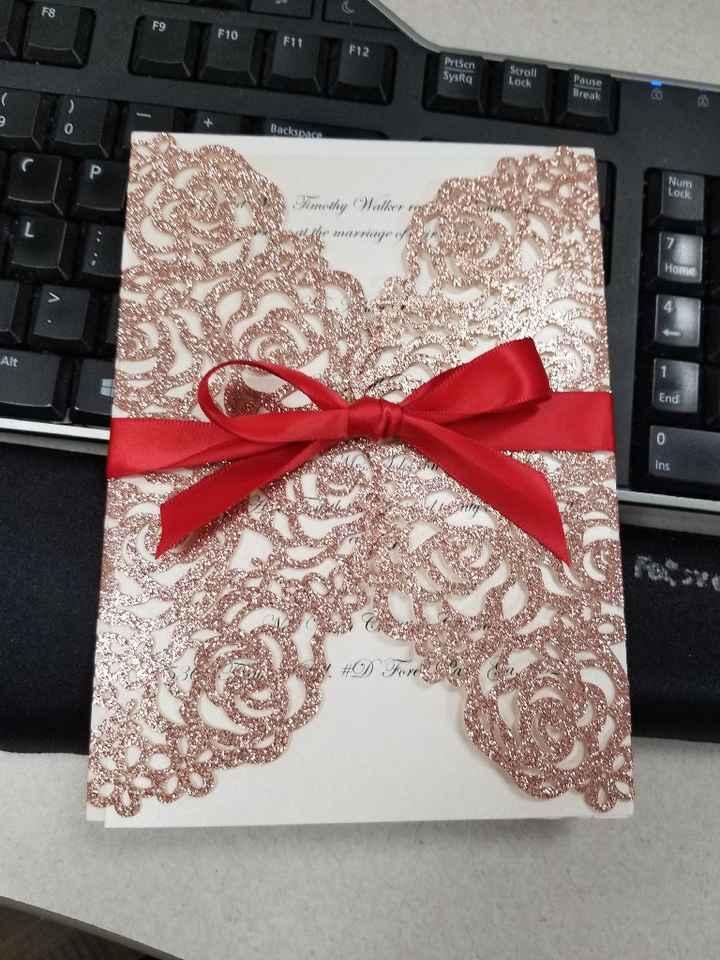 Invitations for a budget bride - 1