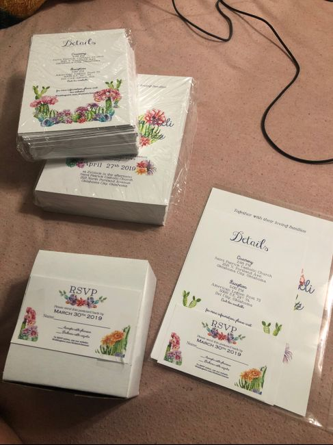 Disappointed in my rsvp cards 1