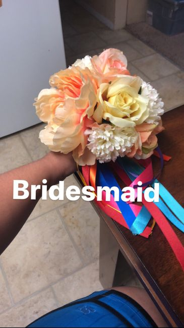 Finished Bridal party bouquets ❤️ 3