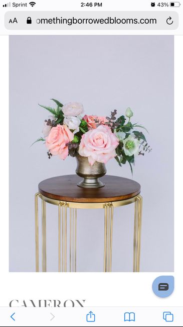 What did you choose for centerpieces? 7