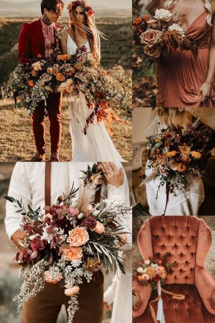 Undecided between colors for boho beach wedding fall 1