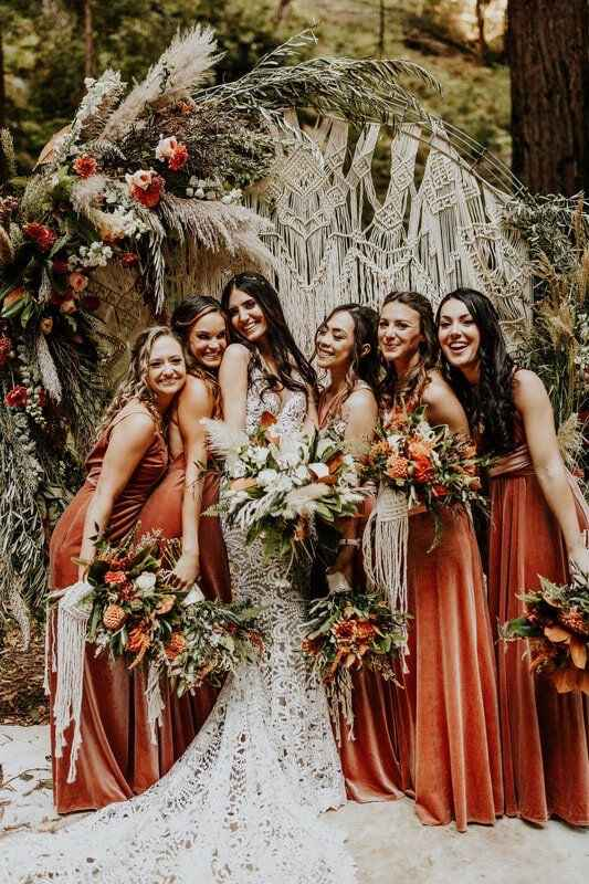 Undecided between colors for boho beach wedding fall - 1