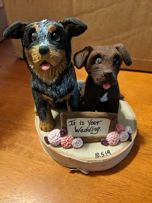 Our cake topper is here!! 2