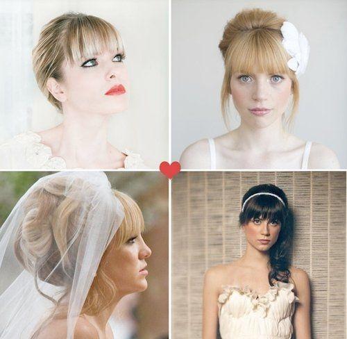 Wedding Hairstyle With Bangs: Weddings, Wedding Attire
