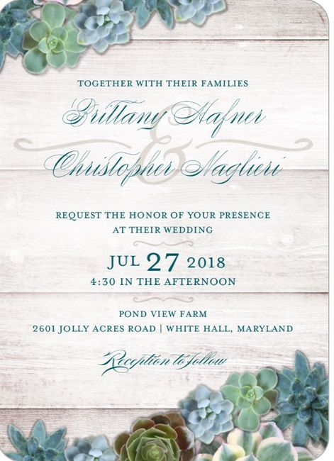 Where did you get your wedding invitations? - 1