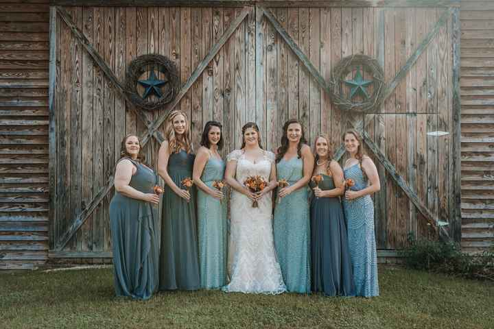 Blush/ivory gown- what color for bridesmaids? - 1