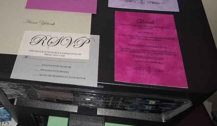 Diy wedding invitations and rsvp cards - 1