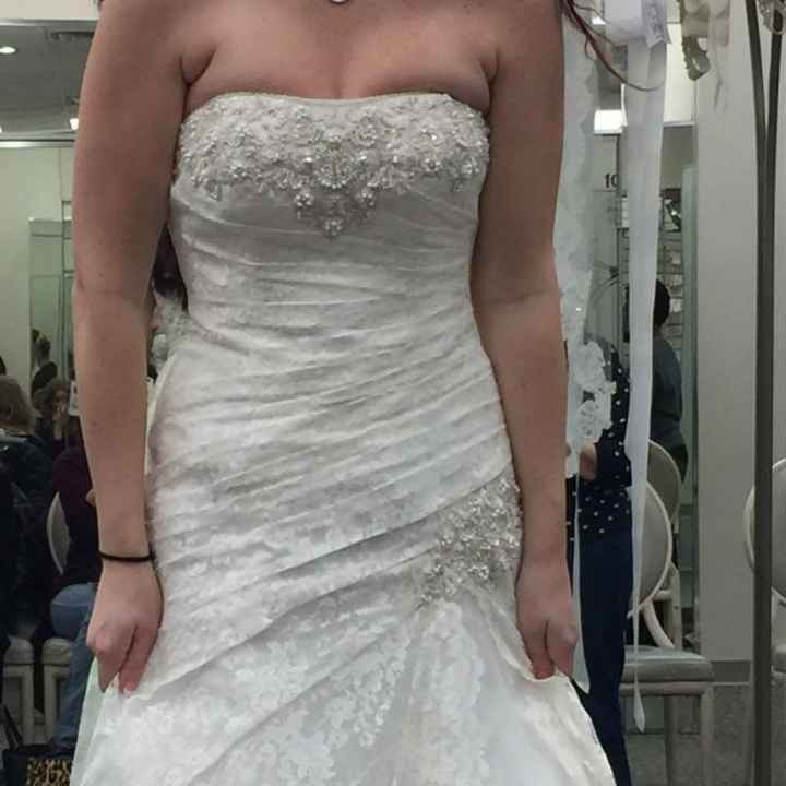 I said MAYBE to the dress....
