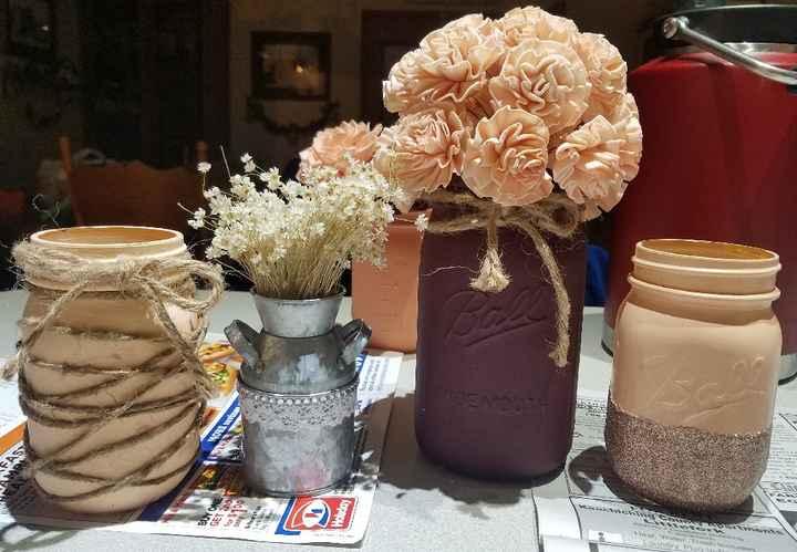 Wood flowers vs real flowers - 3