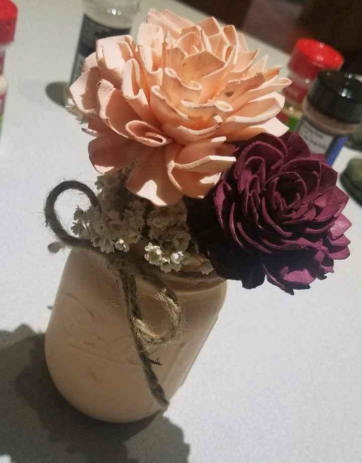 Wood flowers vs real flowers - 4