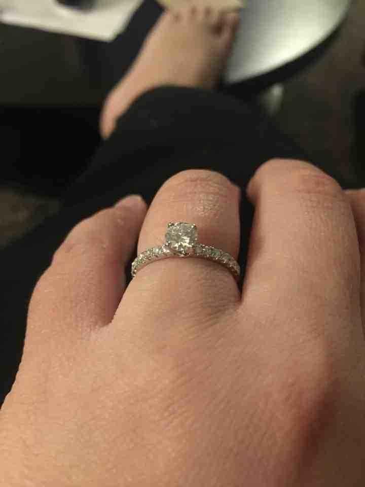 My diamond engagement ring!