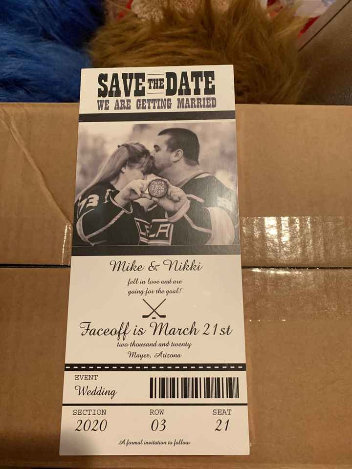 Who started their save the dates/invitations yet? i did save the date heres an example - 1