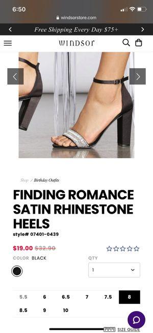 Satin block heels ankel strap - 1