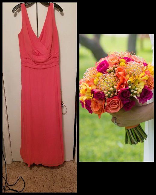 bm dress/flowers 1