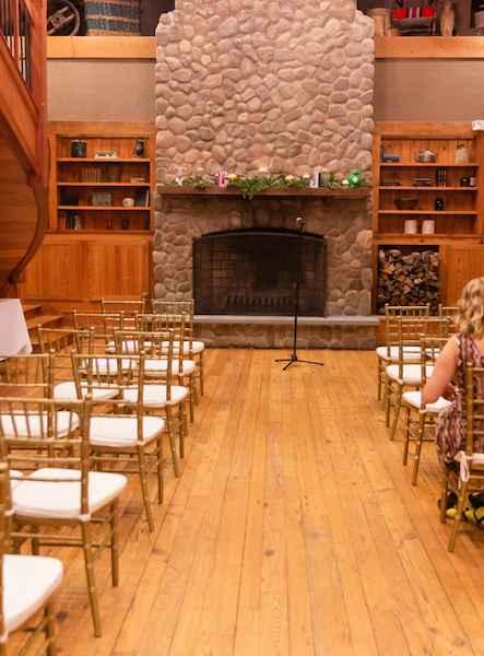 Ceremony decor with (no flowers, no arch) - 3
