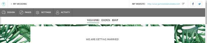 Where to click to send link to guests via wedding wire