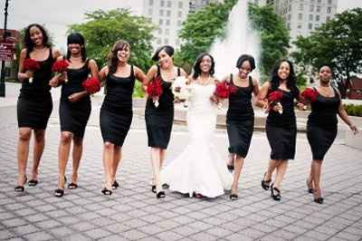 Black bridesmaids dresses -- need some help with pictures!