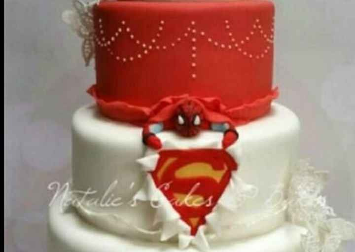 Give me ideas for grooms cake super hero theme Batman or Spiderman - 5