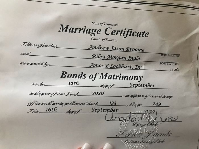 We got our Marriage Certificate. - 1